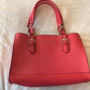 Antonio Melani Leather Coral Handbag